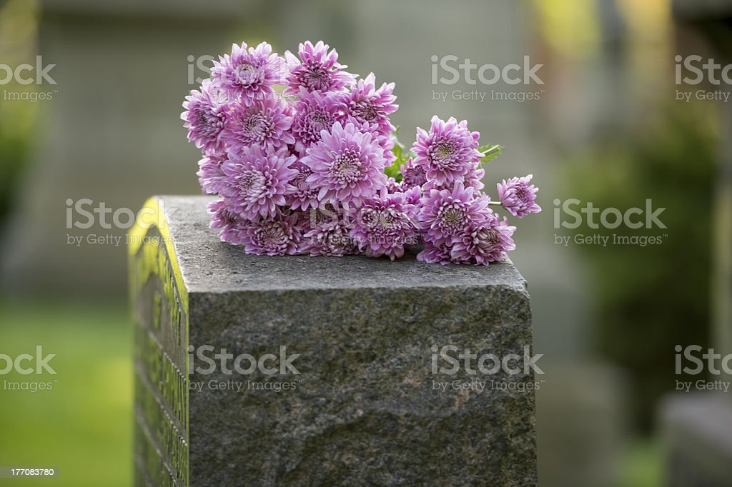 Flowers of Grief stock photo