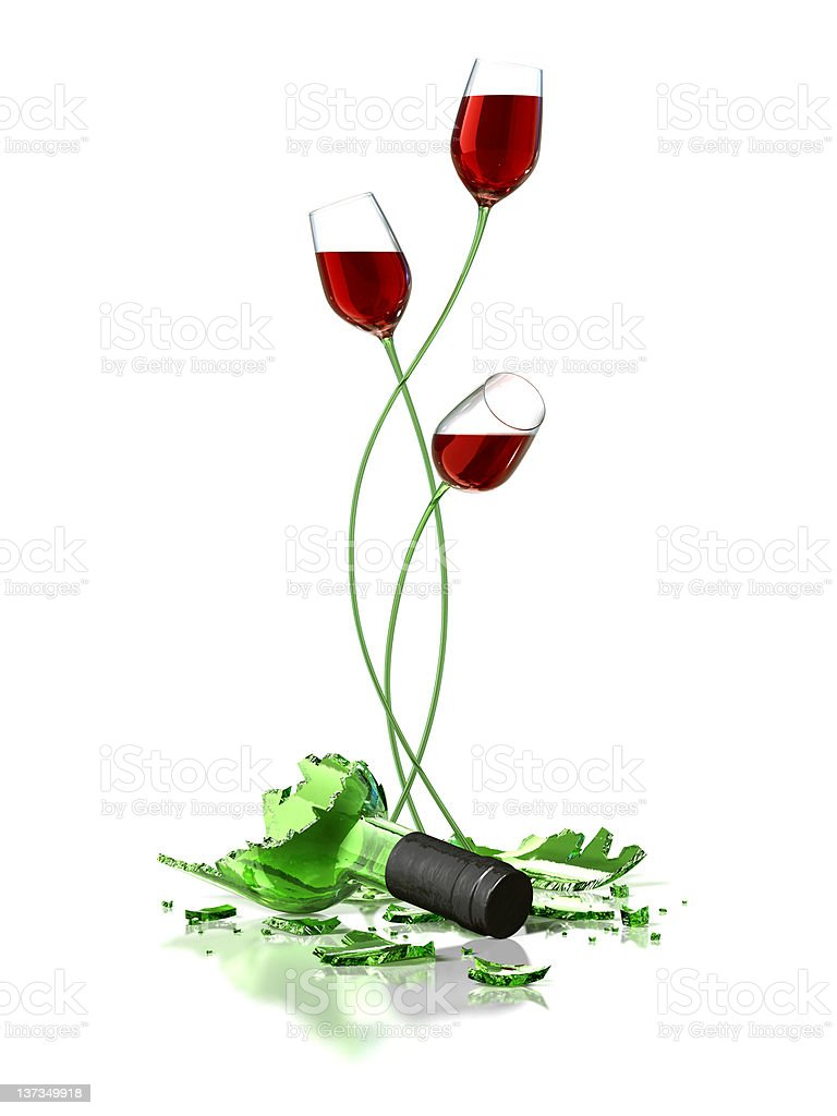 Flowers Of Wine royalty-free stock photo