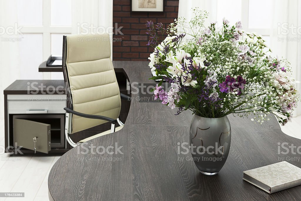 flowers on a desk royalty-free stock photo