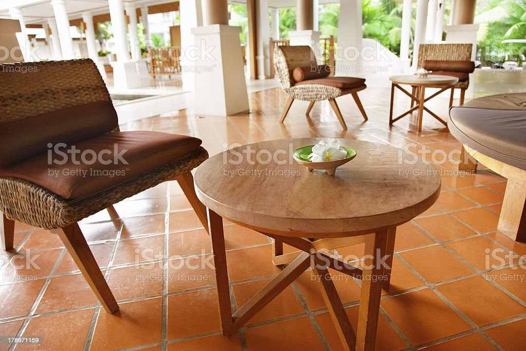 Flowers on a table royalty-free stock photo