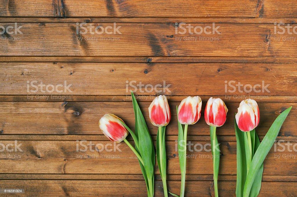 Blumen auf ein hölzerner Hintergrund Struktur Lizenzfreies stock-foto