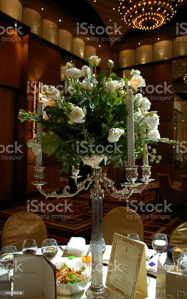 Flowers on Function Table stock photo