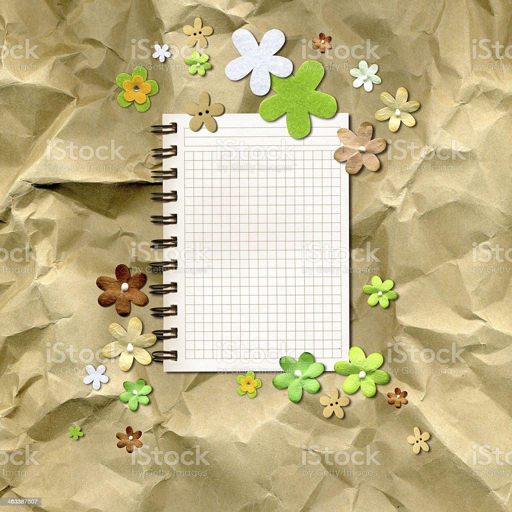 flowers on kraft paper royalty-free stock photo