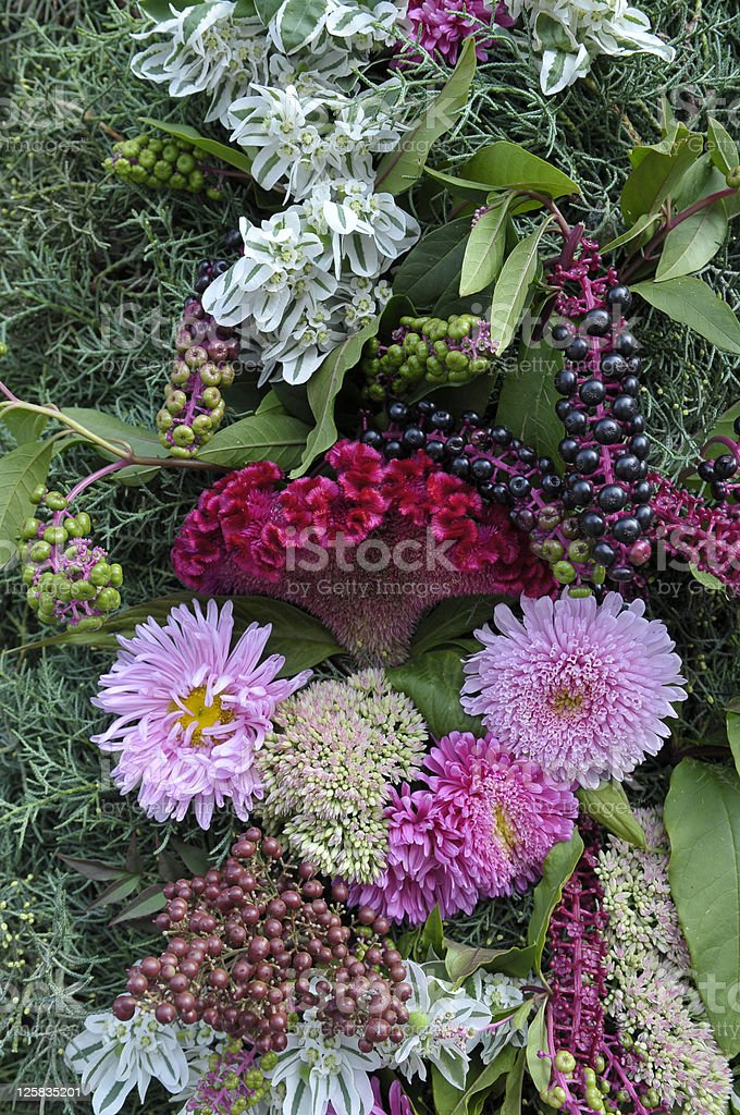 Flowers on Portal Made For Bride and Groom royalty-free stock photo