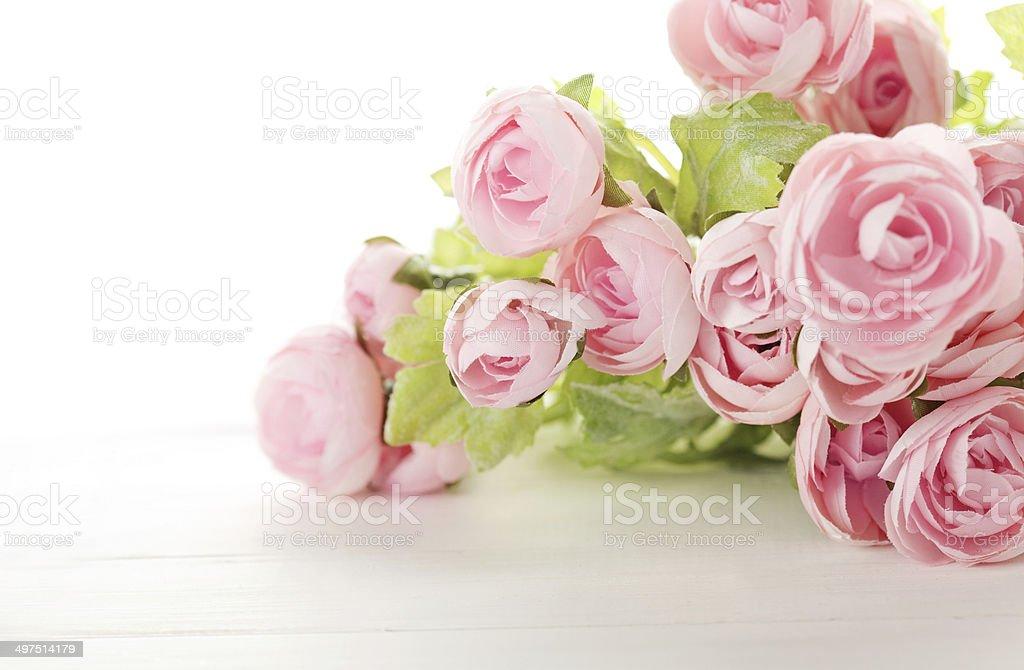 flowers on white stock photo