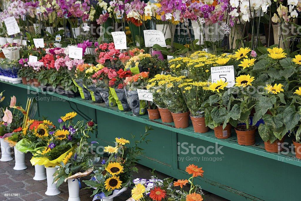 Flowers Open Market stock photo