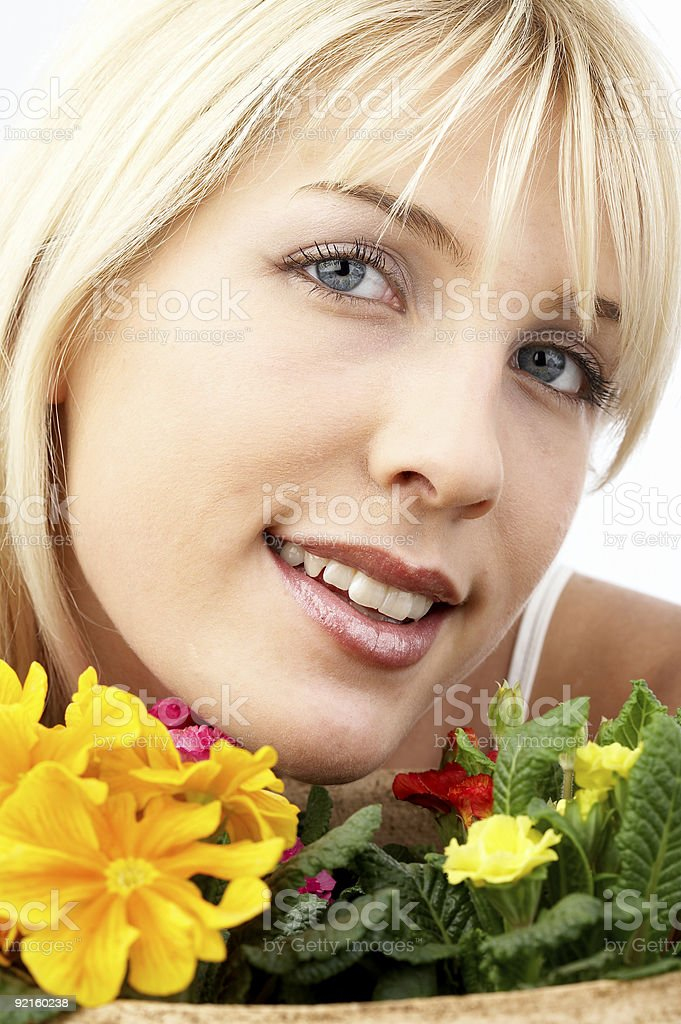 Flowers portrait royalty-free stock photo