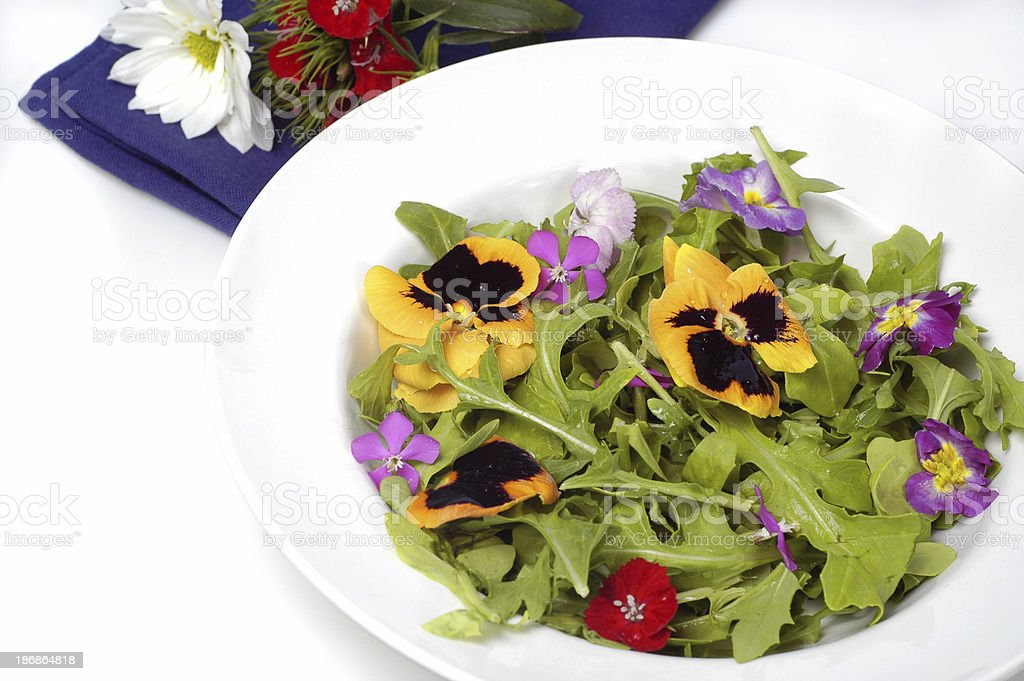Flowers salad royalty-free stock photo