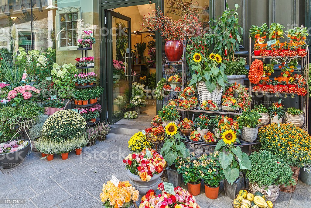 Flowers Shop royalty-free stock photo