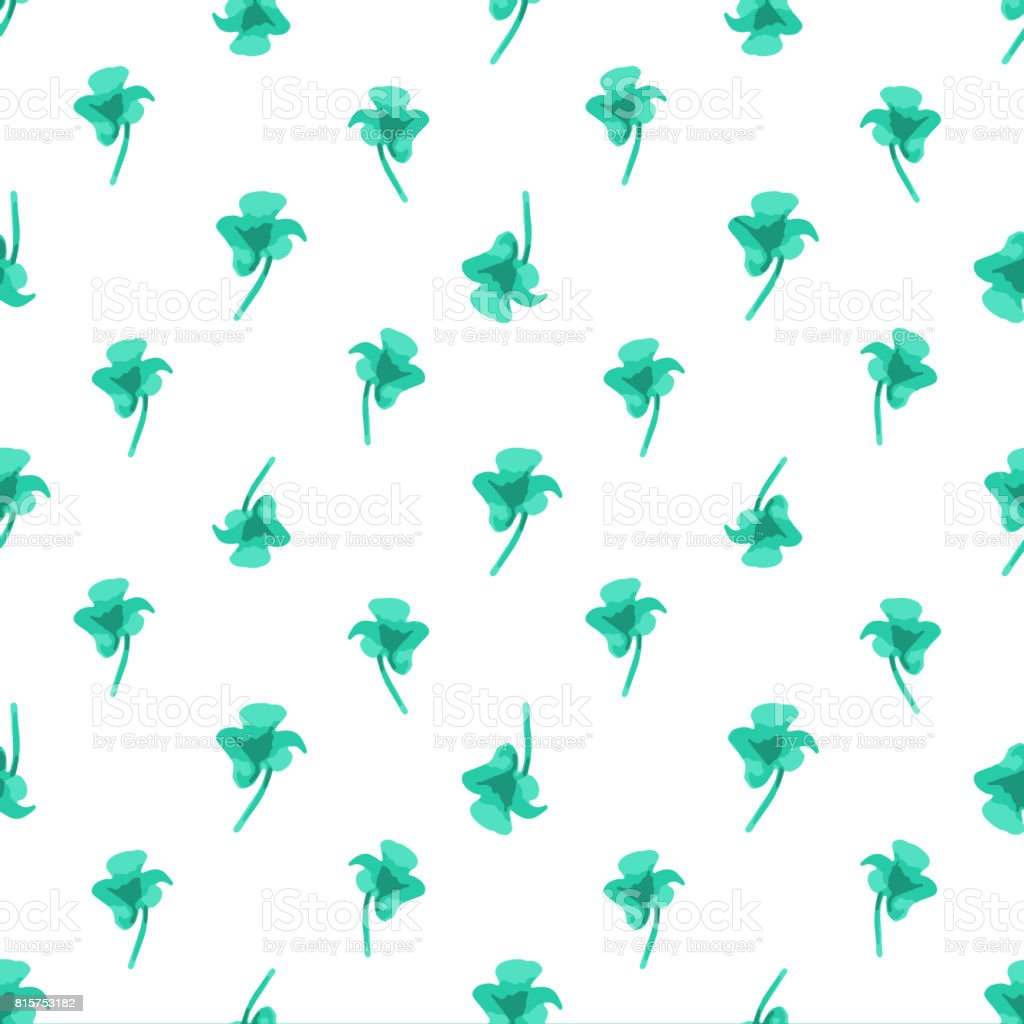 Flowers Silhouette Seamless Pattern Design stock photo