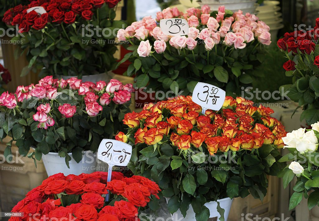 flowers stand with roses royalty-free stock photo