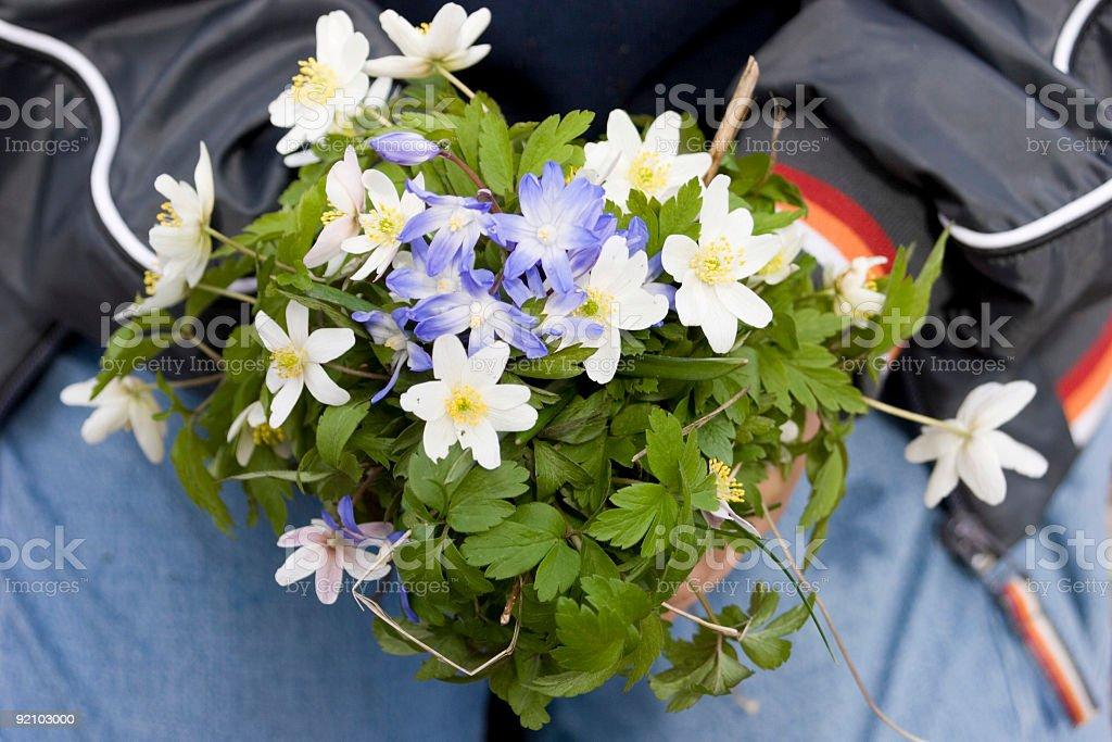 Flowers to mom stock photo