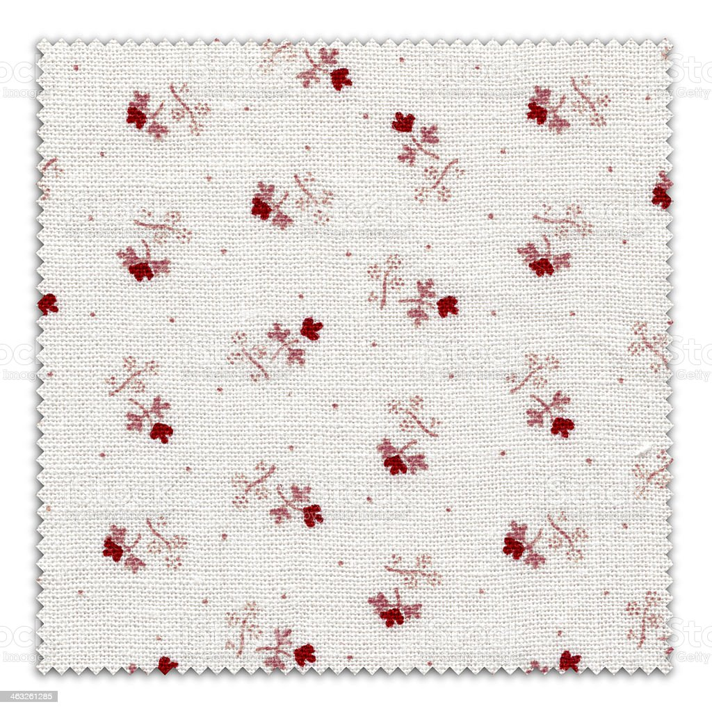 Flowery Fabric Swatch (Clipping Path) royalty-free stock photo