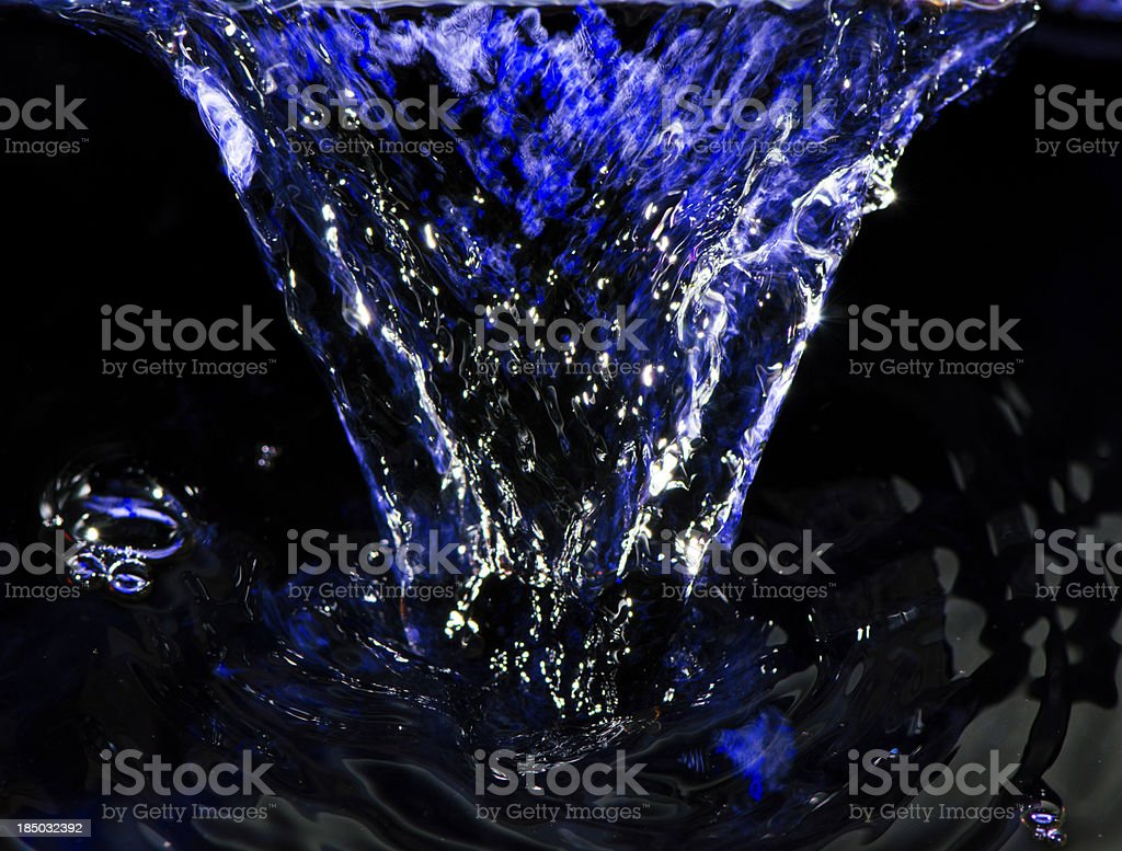 Flowing blue water royalty-free stock photo
