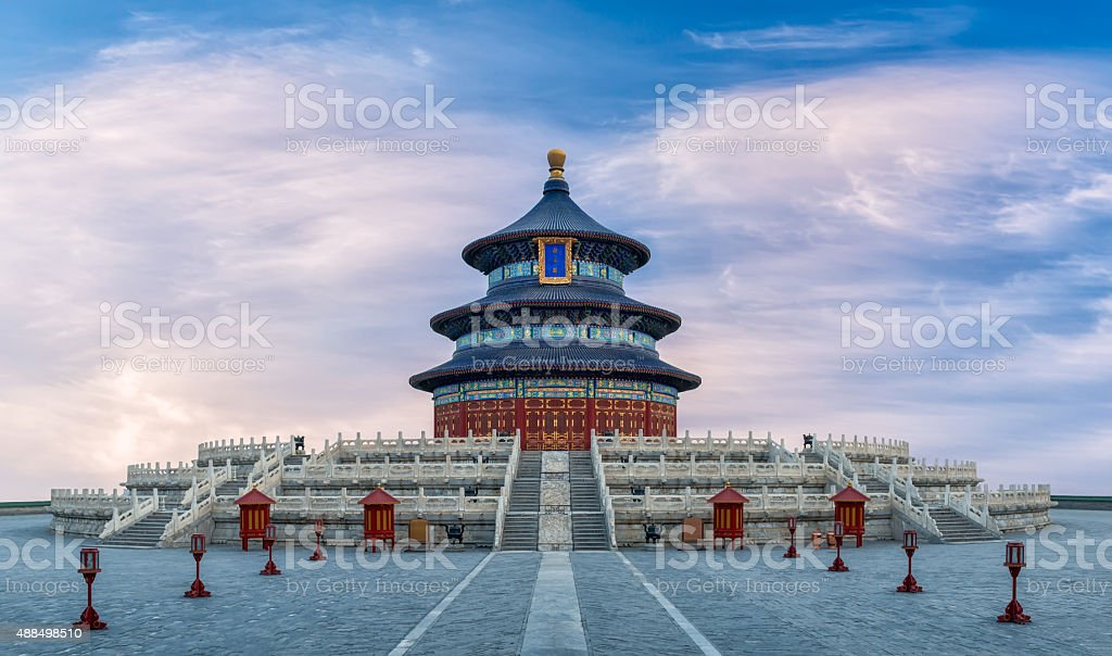 Flowing Clouds Over The Temple of Heaven stock photo