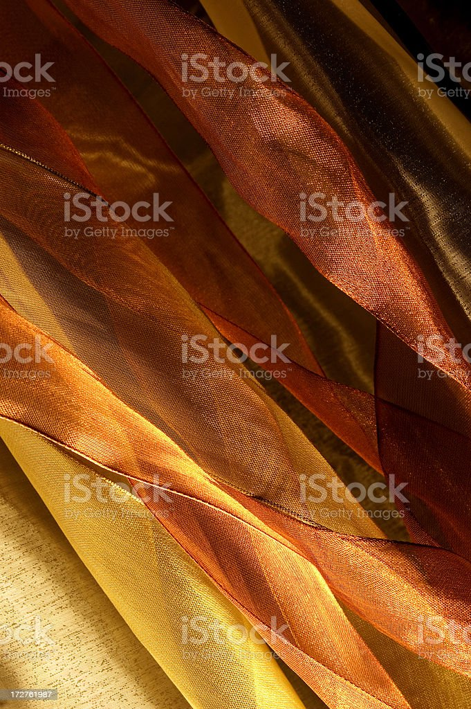 Flowing Gold Ribbons royalty-free stock photo