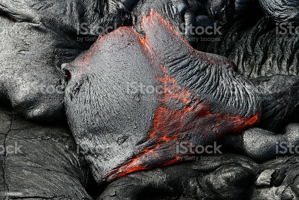 Flowing lava royalty-free stock photo