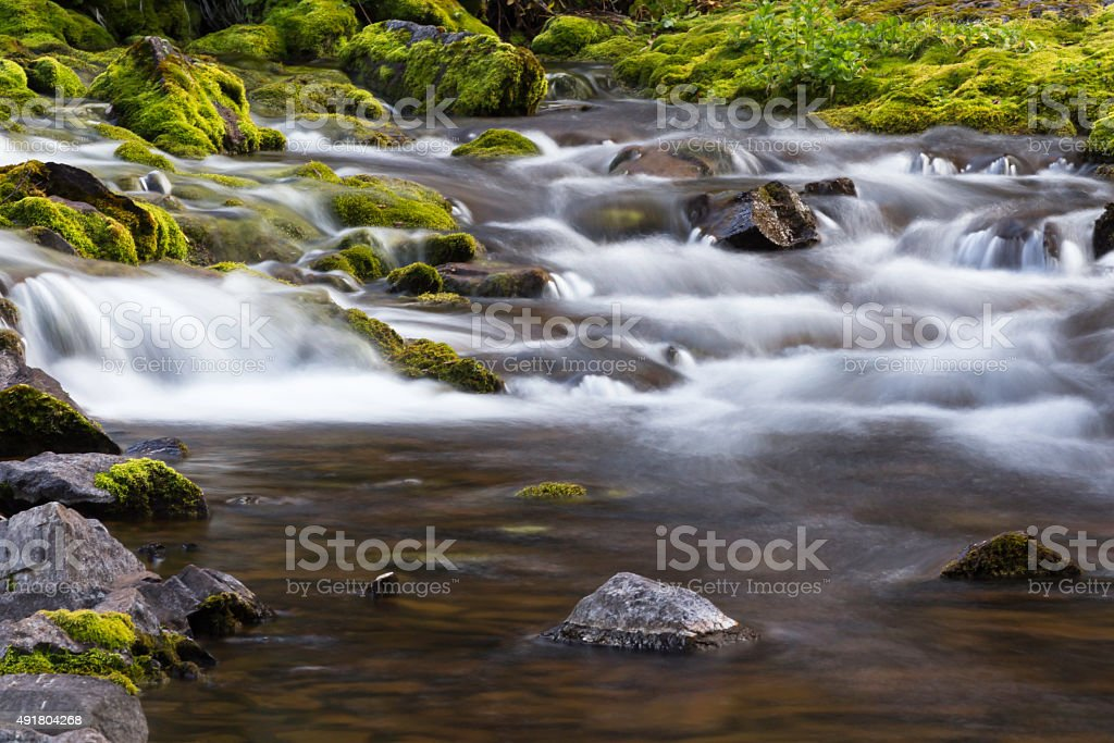 Flowing Mountain River stock photo