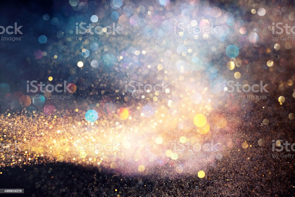Flowing multicolored lights stock photo