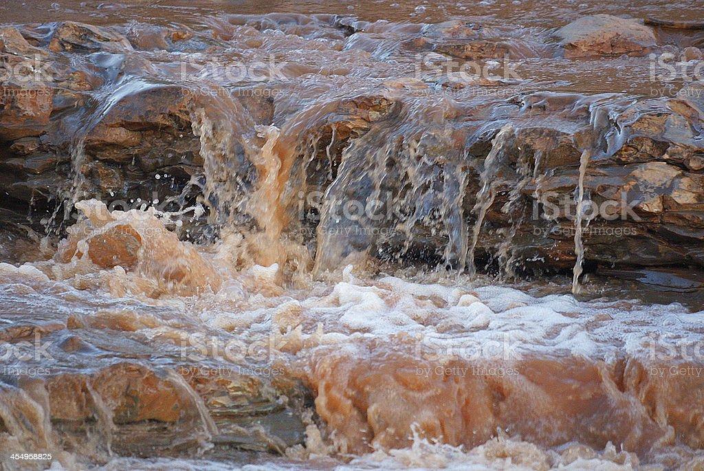 Flowing river closeup stock photo
