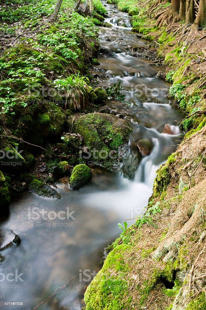 Flowing River Water Stream royalty-free stock photo