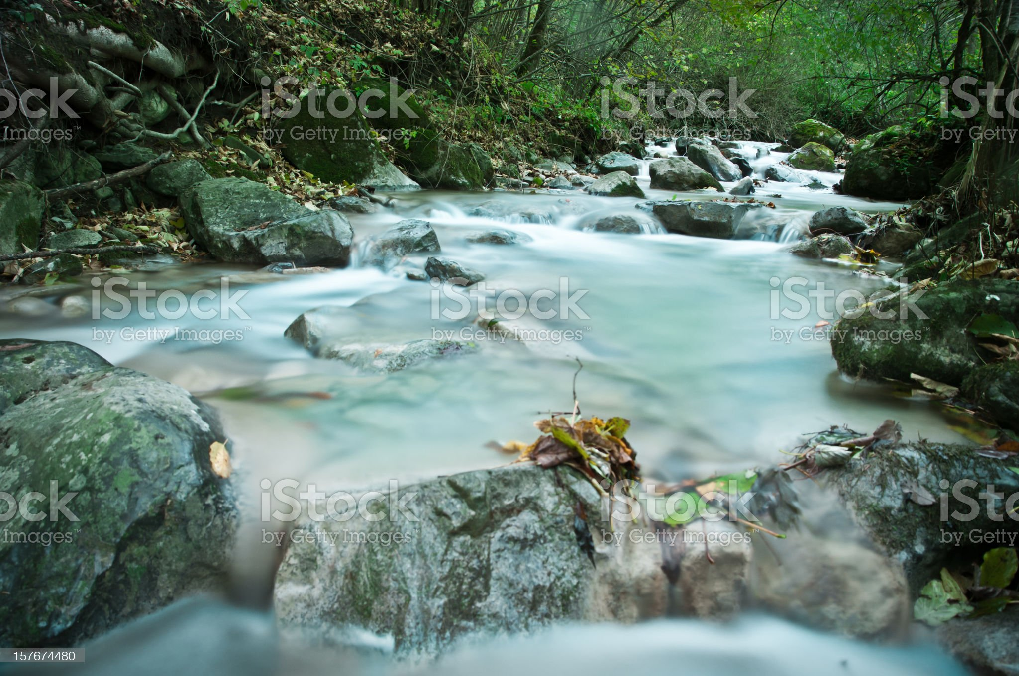 flowing running river spring water royalty-free stock photo