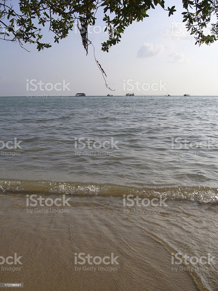 Flowing Sea Water royalty-free stock photo