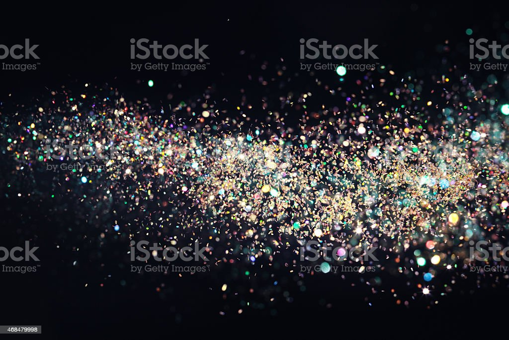 Flowing stars stock photo
