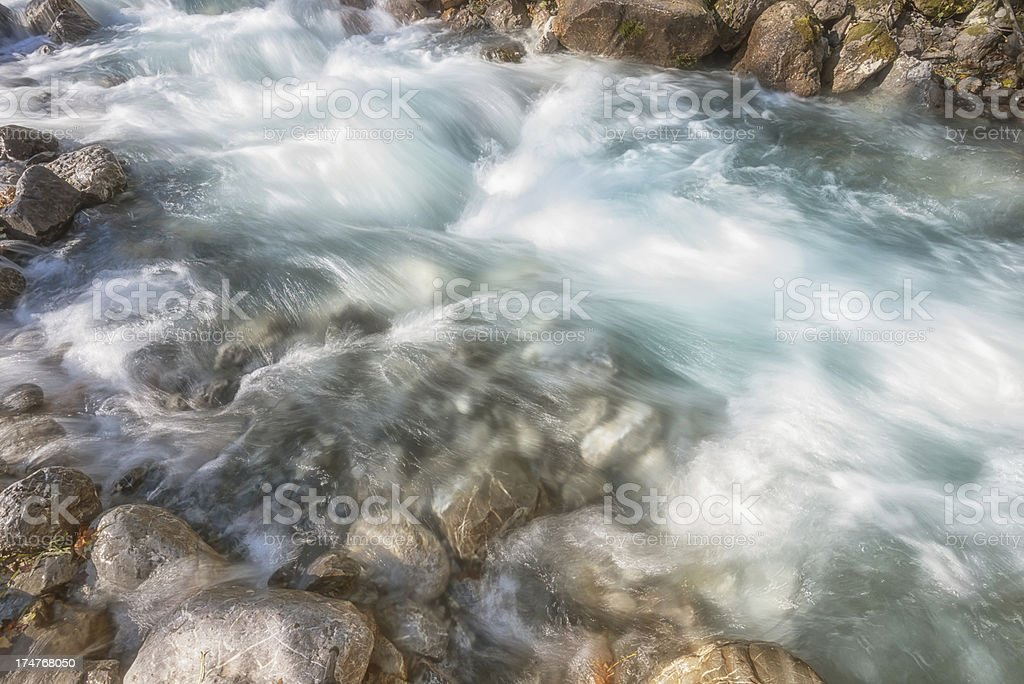 flowing water in natural stream royalty-free stock photo