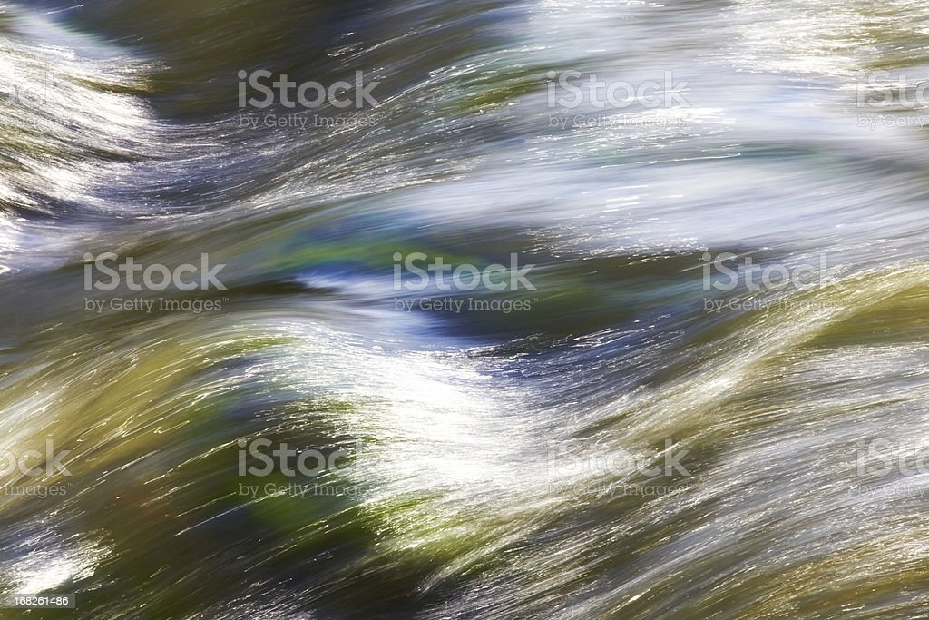 Flowing water of River Mura stock photo