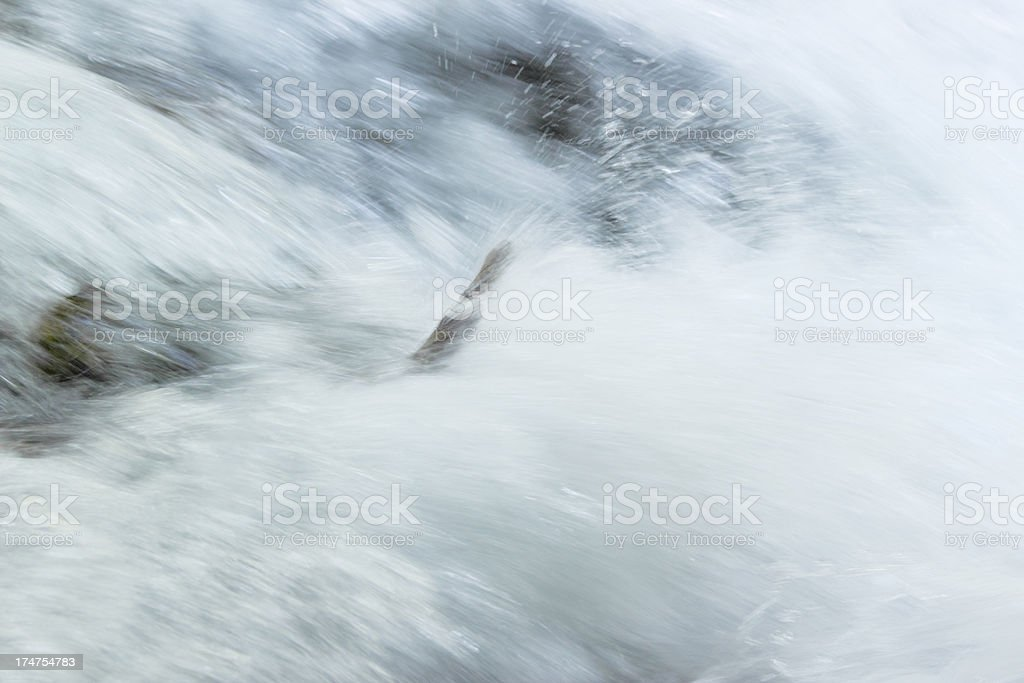 flowing water of small cascade at Plitvice Lakes in Croatia royalty-free stock photo