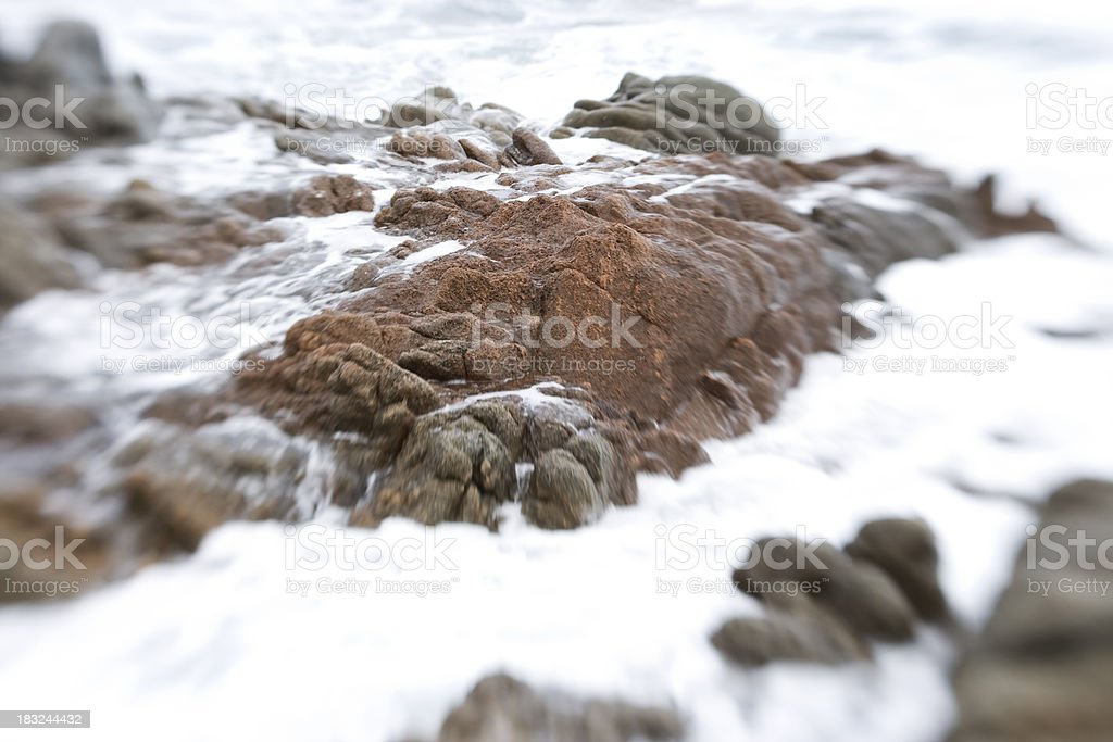 flowing water on the rocks royalty-free stock photo