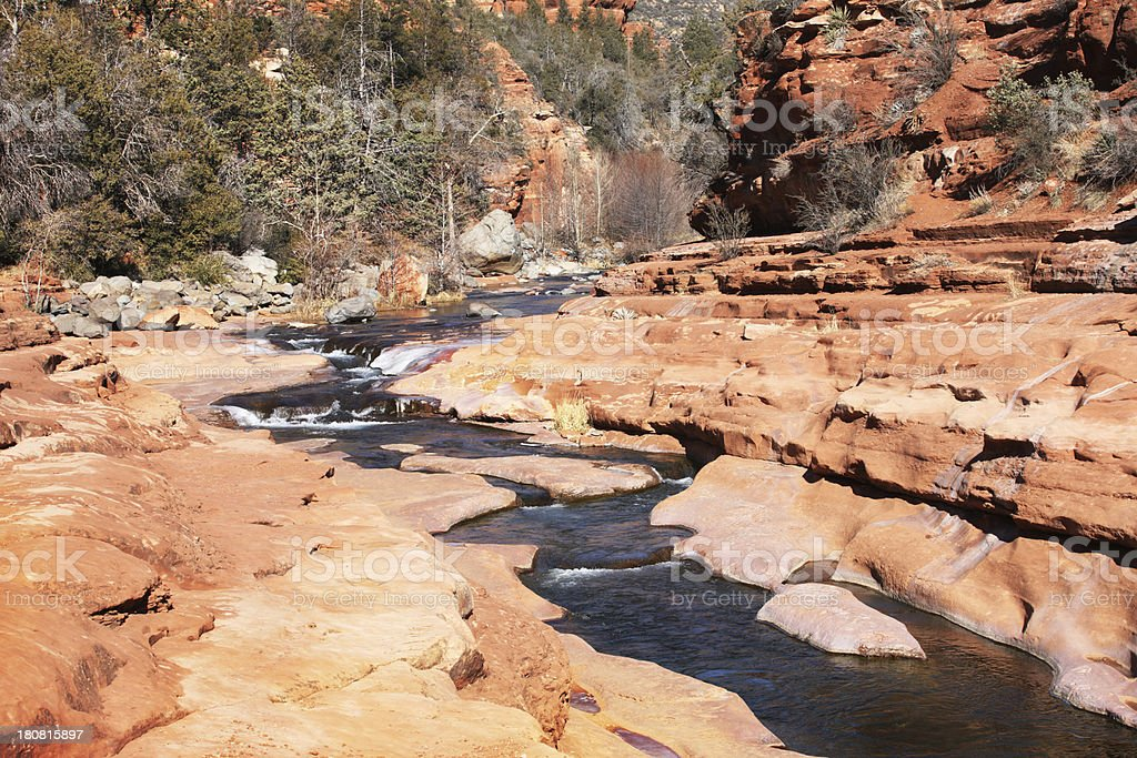 Flowing Watercourse Red Rock Canyon royalty-free stock photo