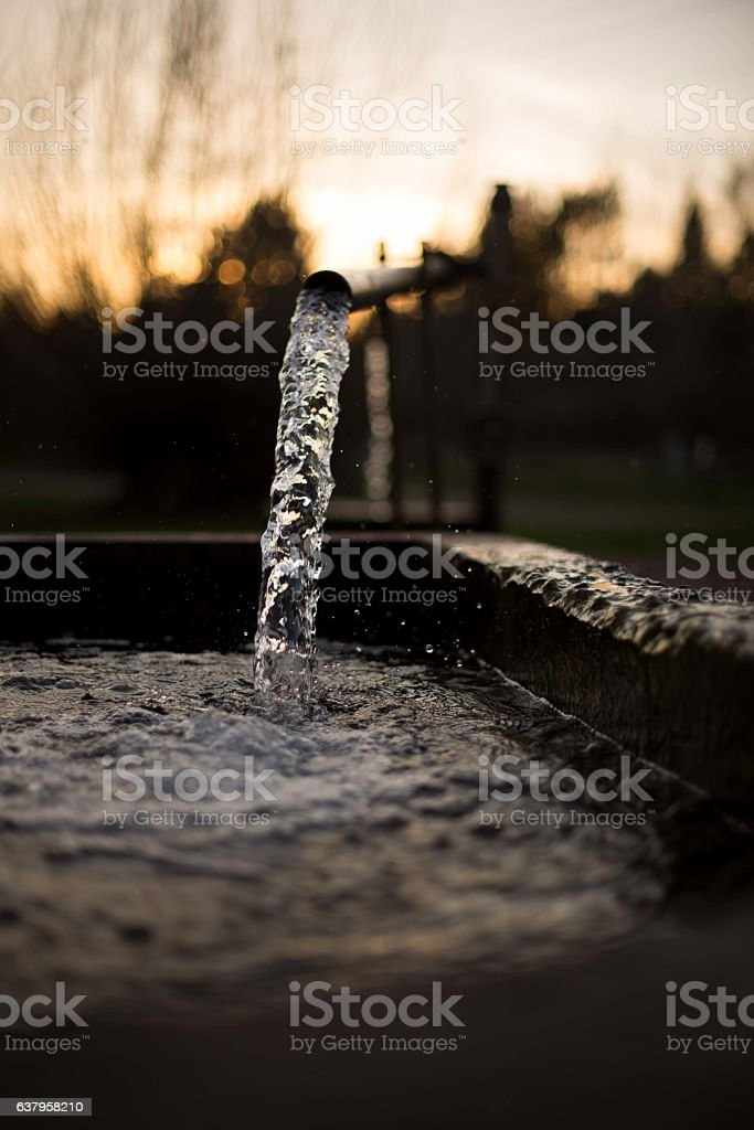 Flowing Well stock photo