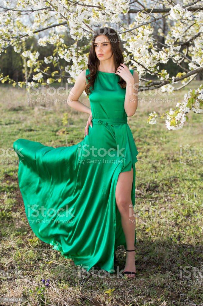 Flowy Dress stock photo