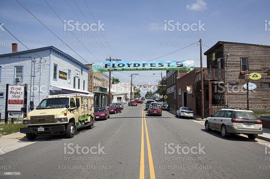 Floyd Fest Banner stock photo