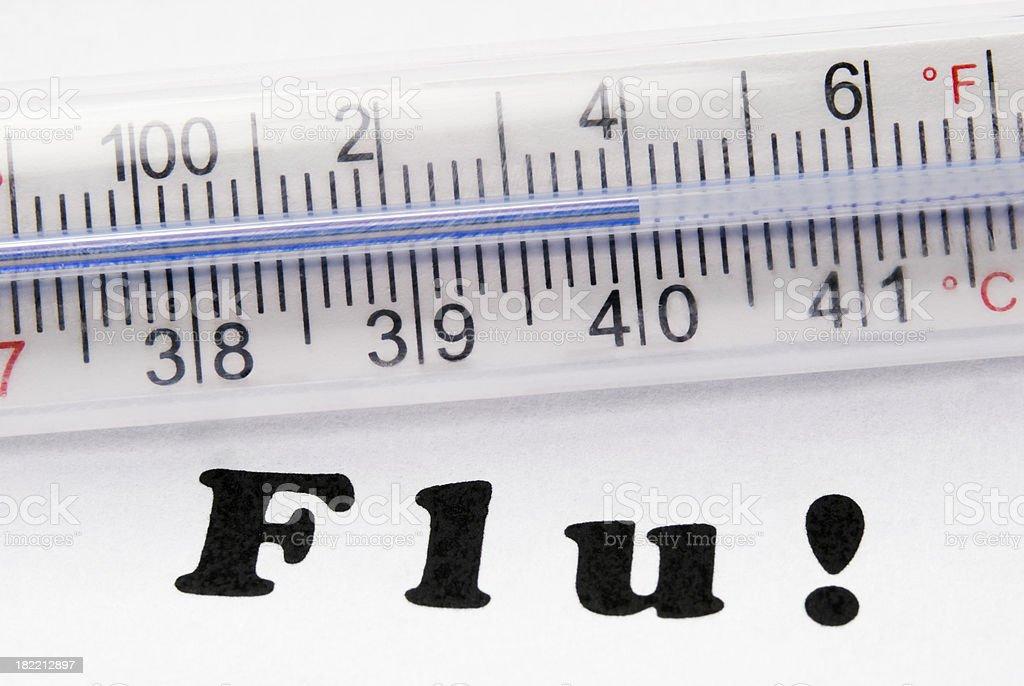 H1N1 Flu high fever (104F or 40C) - II royalty-free stock photo