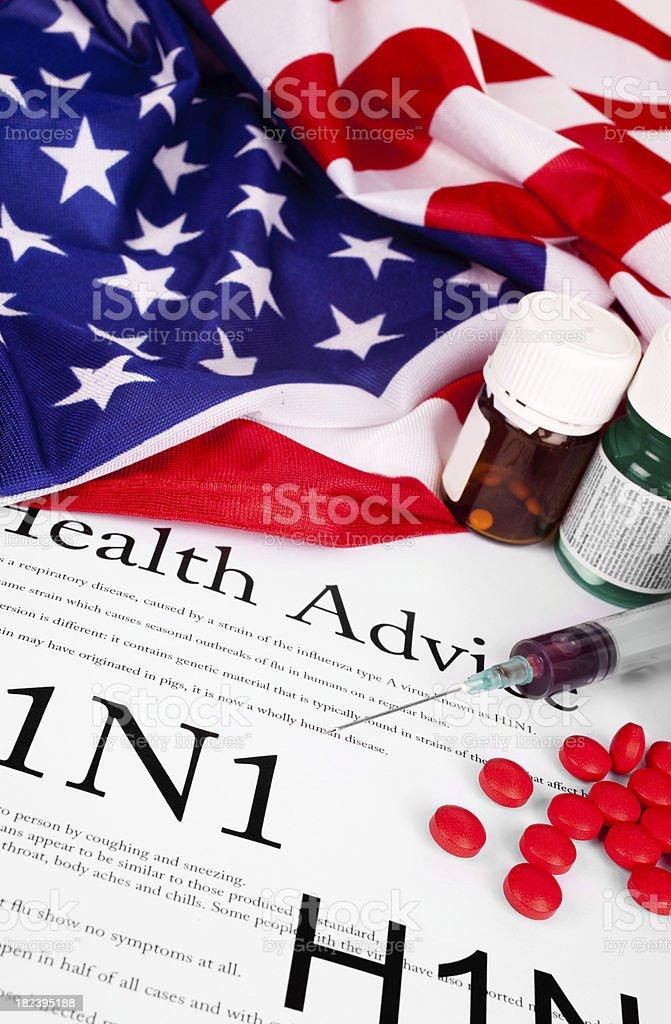 H1N1 Flu in United States stock photo