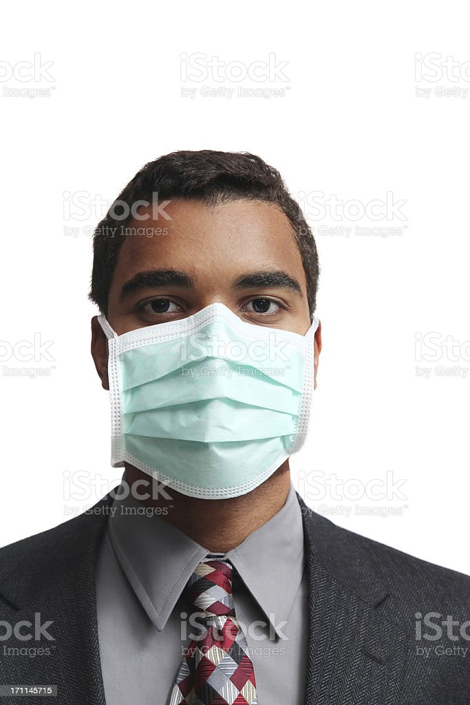 Flu mask royalty-free stock photo