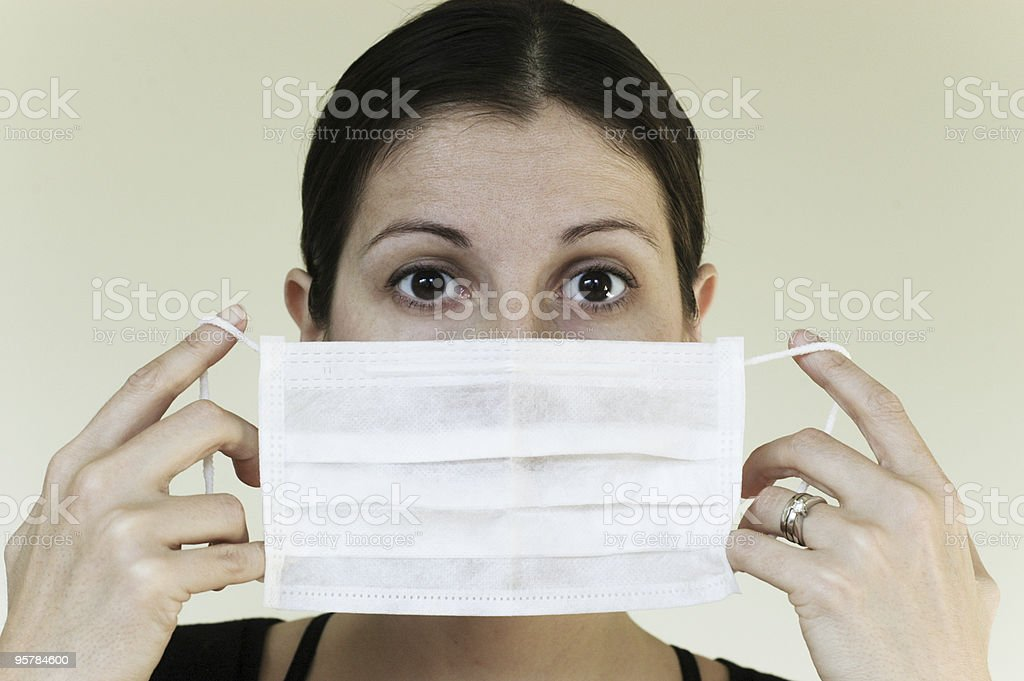 flu mask stock photo