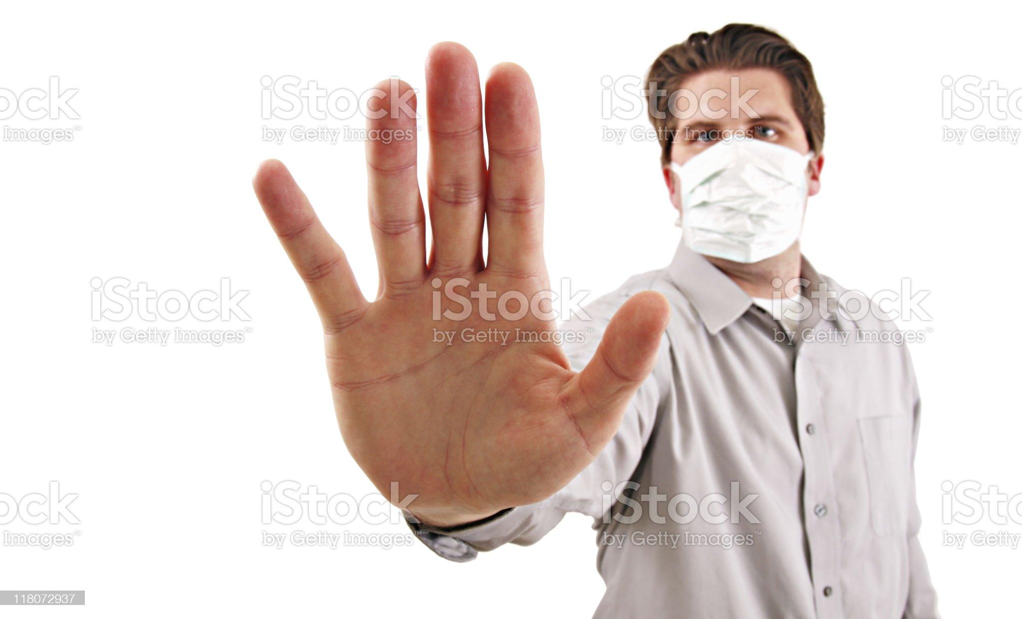 Flu Masked Man royalty-free stock photo