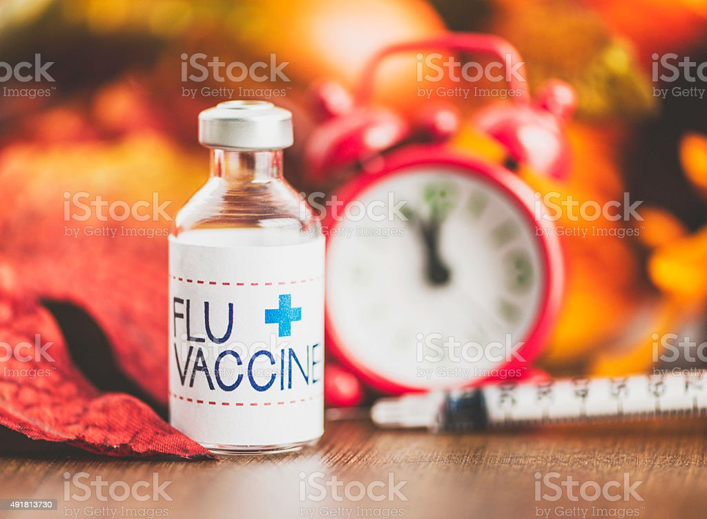 Flu Season. Fall is time for flu shots. stock photo
