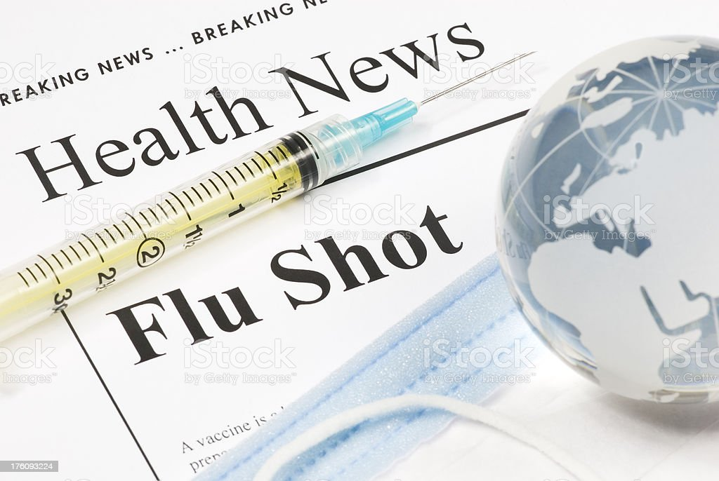 Flu Shot, Vaccination (Europe, Africa, Middle East) - II stock photo