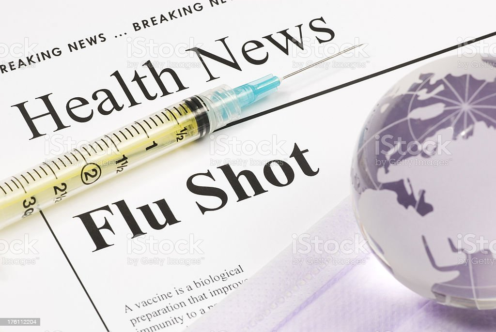 Flu Shot, Vaccination (Europe, Africa, Middle East) - IX royalty-free stock photo