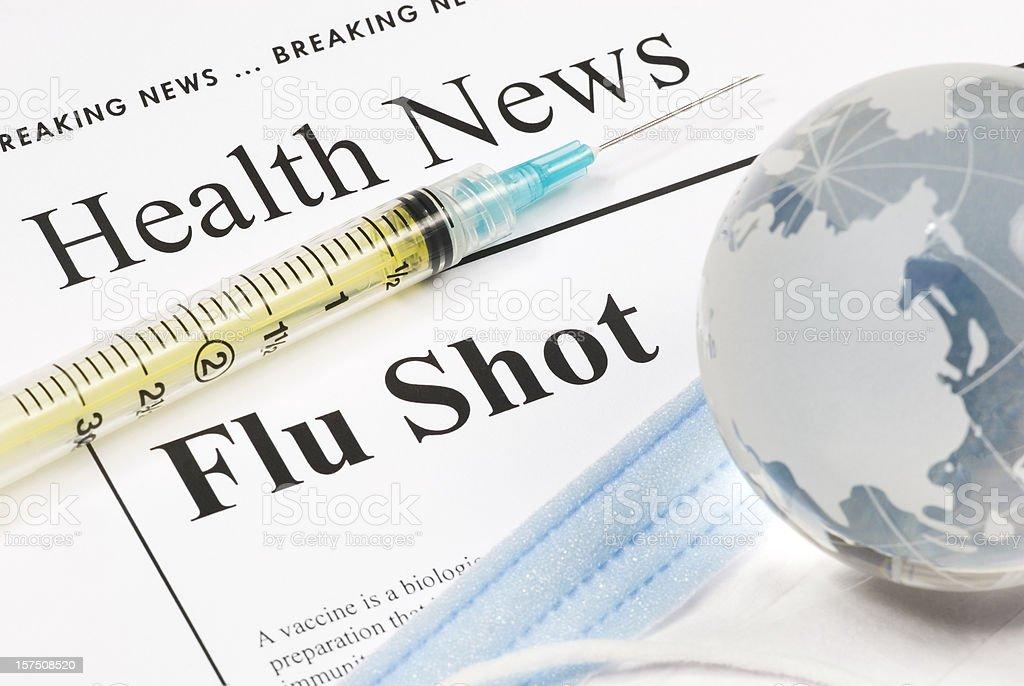 Flu Shot, Vaccination (Asia) - V royalty-free stock photo