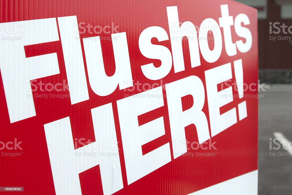 Flu shots here royalty-free stock photo