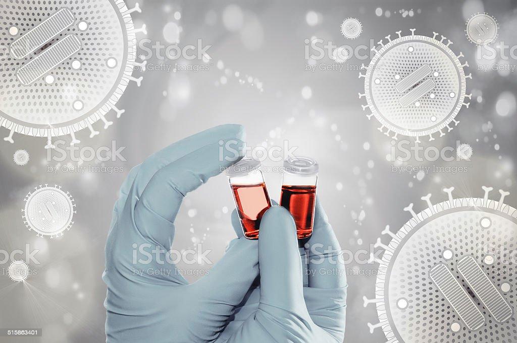 Flu vaccine development, concept stock photo