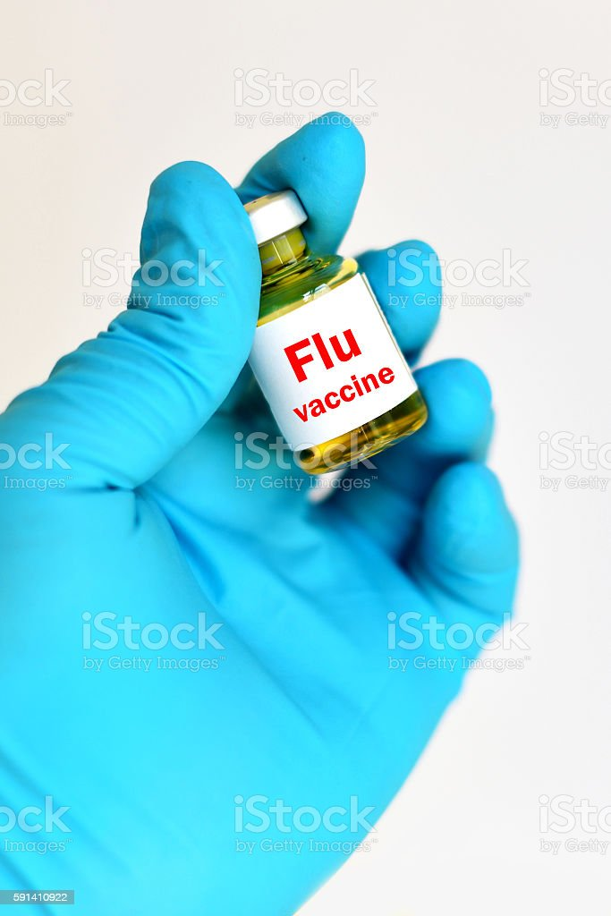 Flu vaccine stock photo