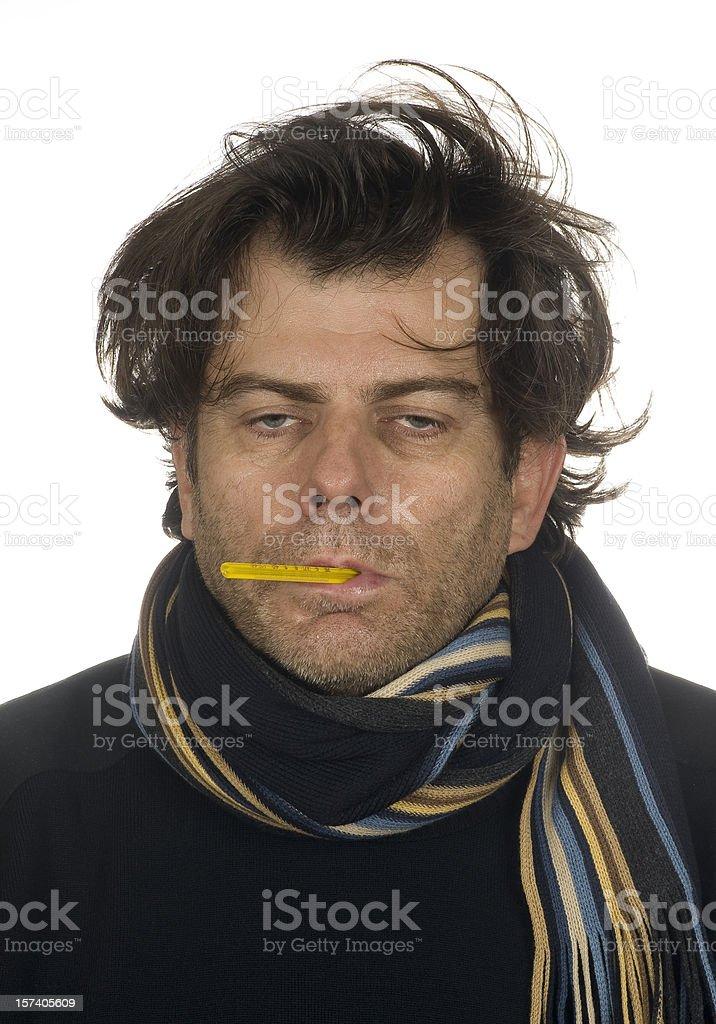 Flu victim royalty-free stock photo