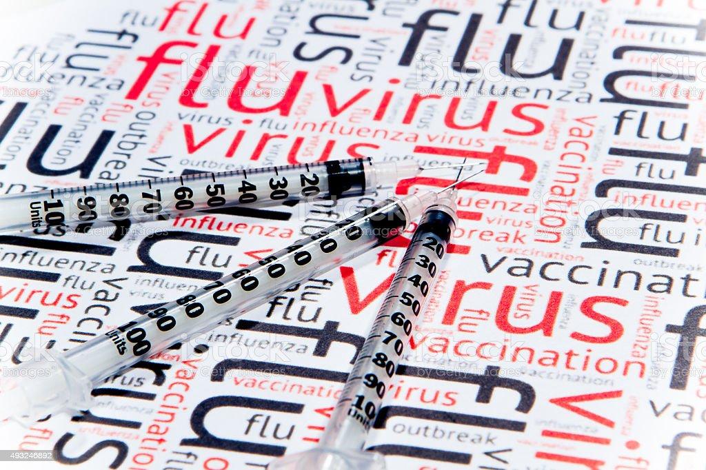 Flu Virus Season - Creative Concept stock photo